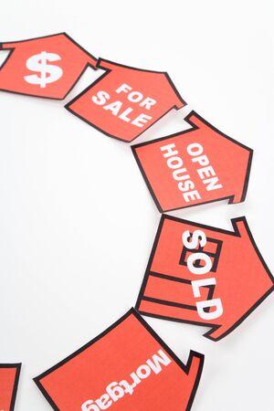 red home sign,  Real Estate business Concept Stock Photo - 7949497