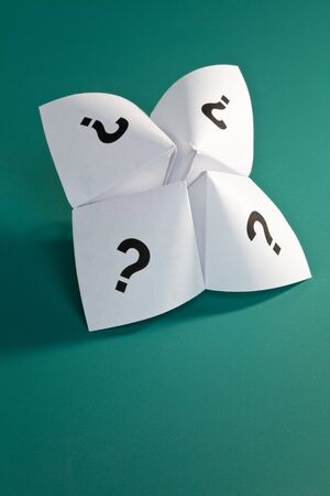Paper Fortune Teller,concept of uncertainty Stock Photo - 7999052