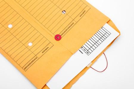 Manilla papier bestand envelop close-up