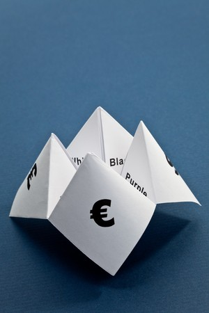 Paper Fortune Teller,concept of business decision photo