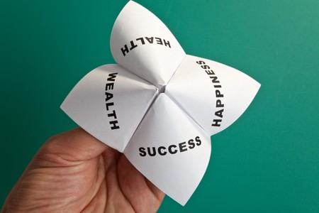 Paper Fortune Teller,concept of balance Stock Photo - 8089887