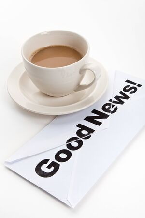 Good News and Coffee Cup, concept of Success
