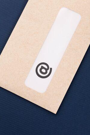 @ symbol and envelope close up