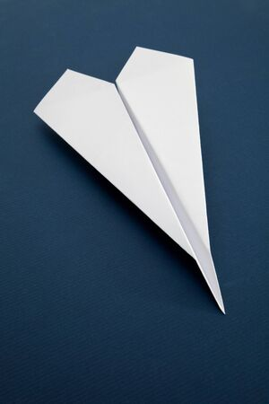 White Paper Airplane close up