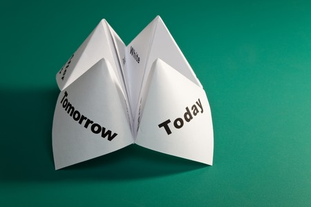 Paper Fortune Teller close up Stock Photo - 8215304