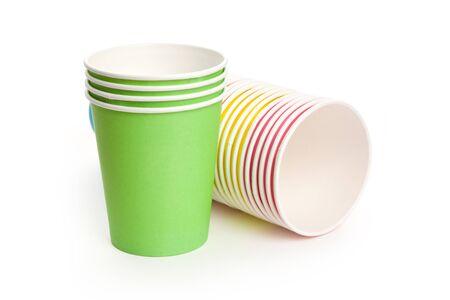 Carta Cup monouso con sfondo bianco