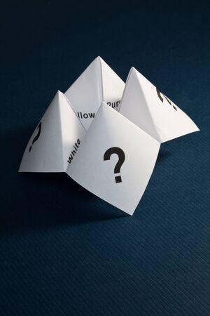 Paper Fortune Teller,concept of uncertainty Stock Photo - 8262545