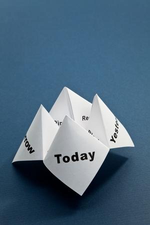 Paper Fortune Teller close up