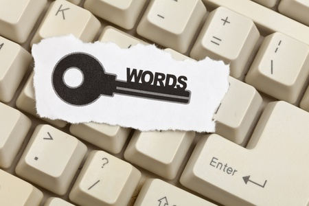 keywords: keywords, concept of Internet Searching Stock Photo