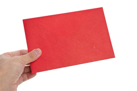 red Envelope with white background Фото со стока
