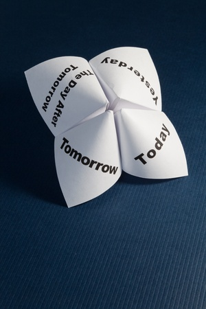 cootie catcher: Paper Fortune Teller close up