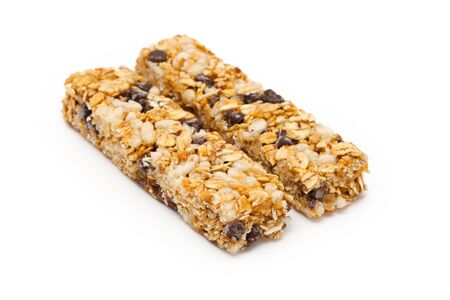 Energy bar with white background close up photo