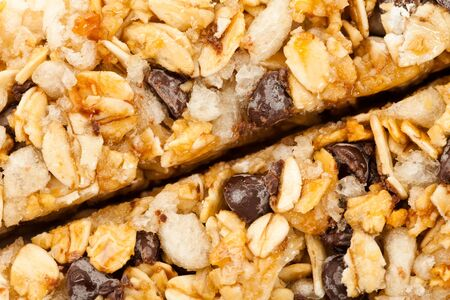 Energy bar close up for background use Stock Photo