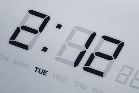 LED Digital Clock close up for background use photo