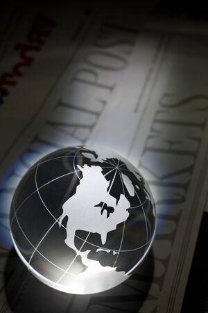 Globe and Newspaper for background Stock Photo - 8766791
