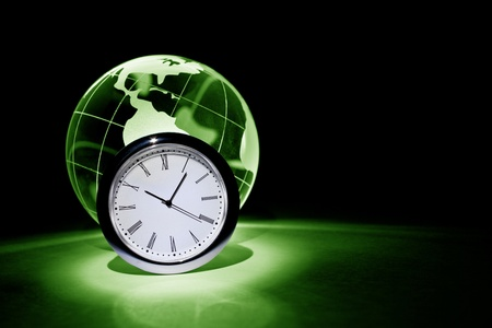 Globe and clock for background    photo