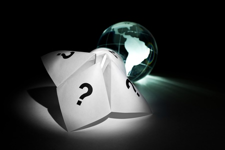 Globe and Paper Fortune Teller for background    photo