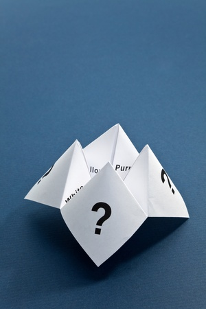 cootie catcher: Paper Fortune Teller,concept of uncertainty