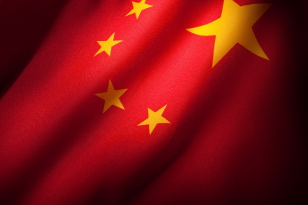 red flag: China Flag for background