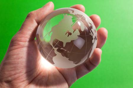 Earth planet,Transparent globe for background Stock Photo - 8880304