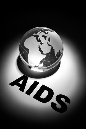 globe, concept of Global AIDS spread and Prevention Stock Photo - 8880266
