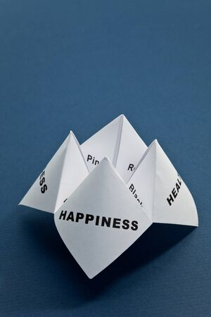Paper Fortune Teller,concept of life balance photo
