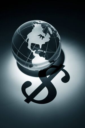 Globe and Dollar Sign, concept of Global Business