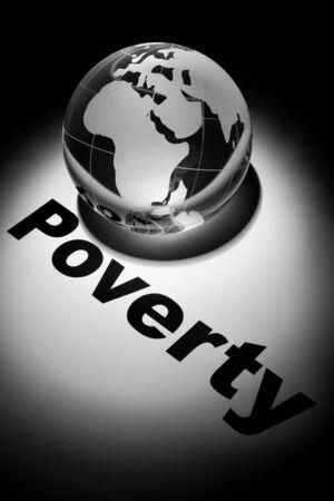 globe, concept of Global Poverty issues    版權商用圖片