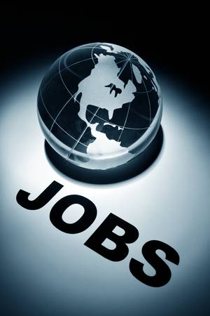 globe, concept of Global Jobs Search Stock Photo - 8906130