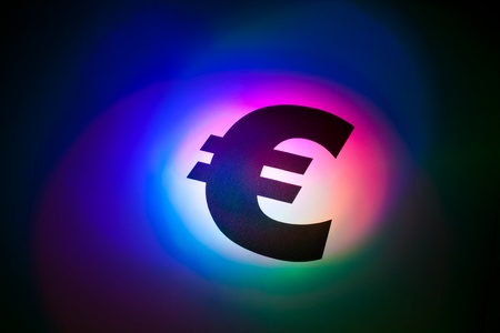 Color light Euro Symbol for background Stock Photo - 8906602