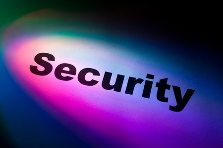 Color light and word of Security for background Stock Photo - 8906438
