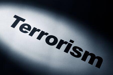 light and word of Terrorism for background Reklamní fotografie - 8906442