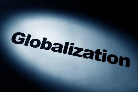 light and word of Globalization for background