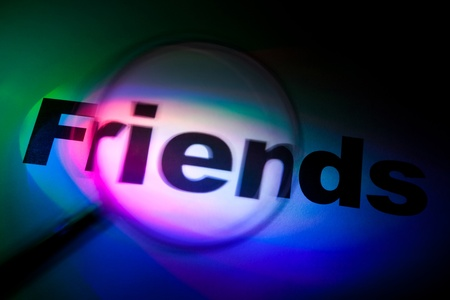 Color light word Friends for background