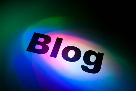 Color light and word of blog for background