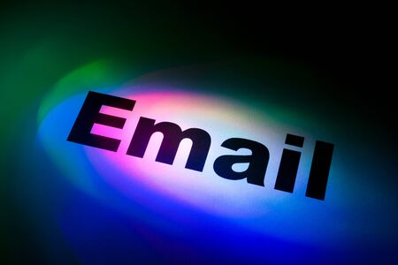 Color light and word of E-Mail for background