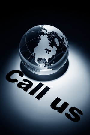 globe, concept of Call us Stock Photo - 8982079