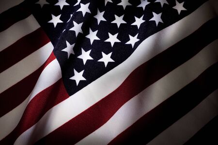 American Flag close up for background photo