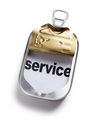 Can and word service, Concept of easy and timely assistance Stock Photo - 9034122
