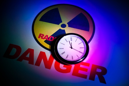 Radiation hazard sign for background Stock Photo - 9088437