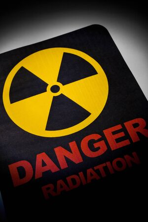 Radiation hazard sign for background Stock Photo - 9088447