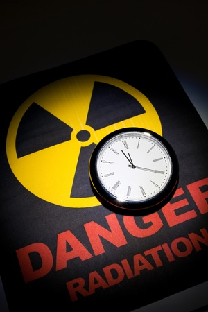 Radiation hazard sign for background Stock Photo - 9088445
