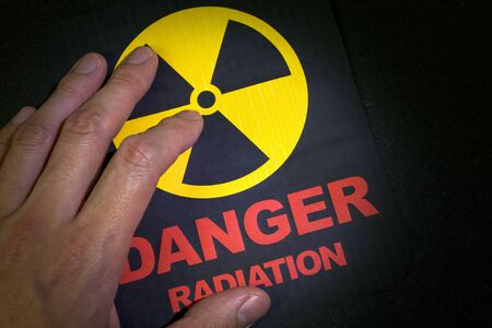 Radiation hazard sign for background Stock Photo - 9088463