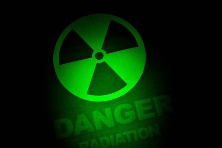 radiation hazard: Radiation hazard sign for background