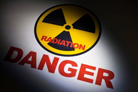 Radiation hazard sign for background Stock Photo - 9206714