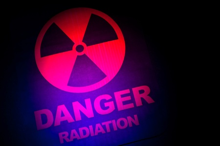 Radiation hazard sign for background Stock Photo - 9206679