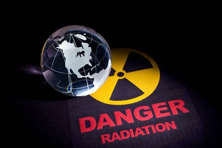 Radiation hazard sign for background Stock Photo - 9206712