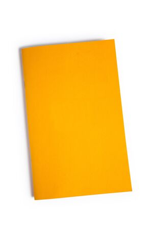 Yellow Book with white background