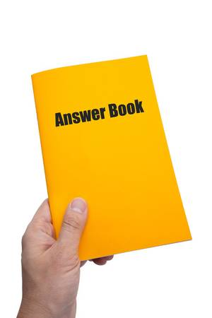 answer: Answer Book with white background