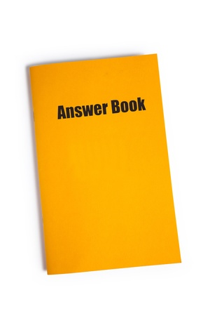 guidebook: Answer Book with white background